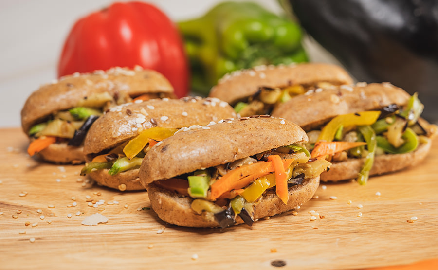 Grilled Vegetables Oval Sandwich (12 pieces)