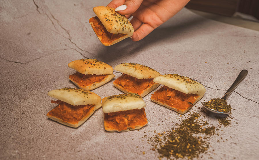 Square White Bread Foul Medames (12 pieces)