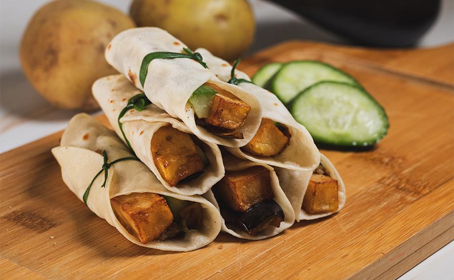 Eggplant & Potato Wrap (12 pieces)