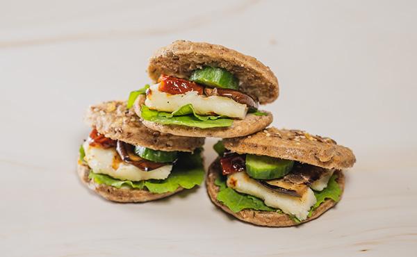 Halloumi & Eggplant Sandwich (12 pieces)